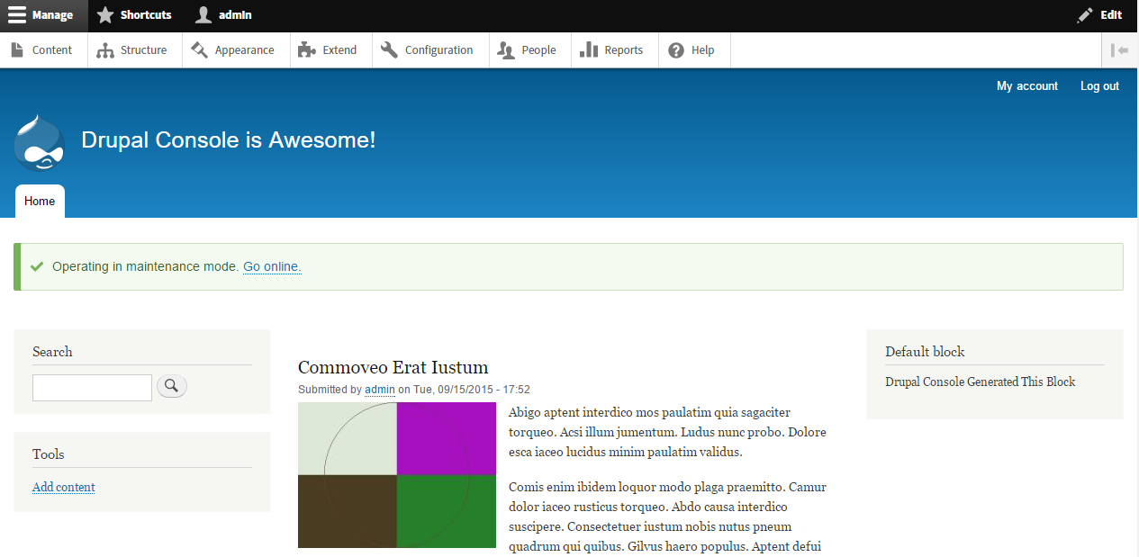Drupal Front Page