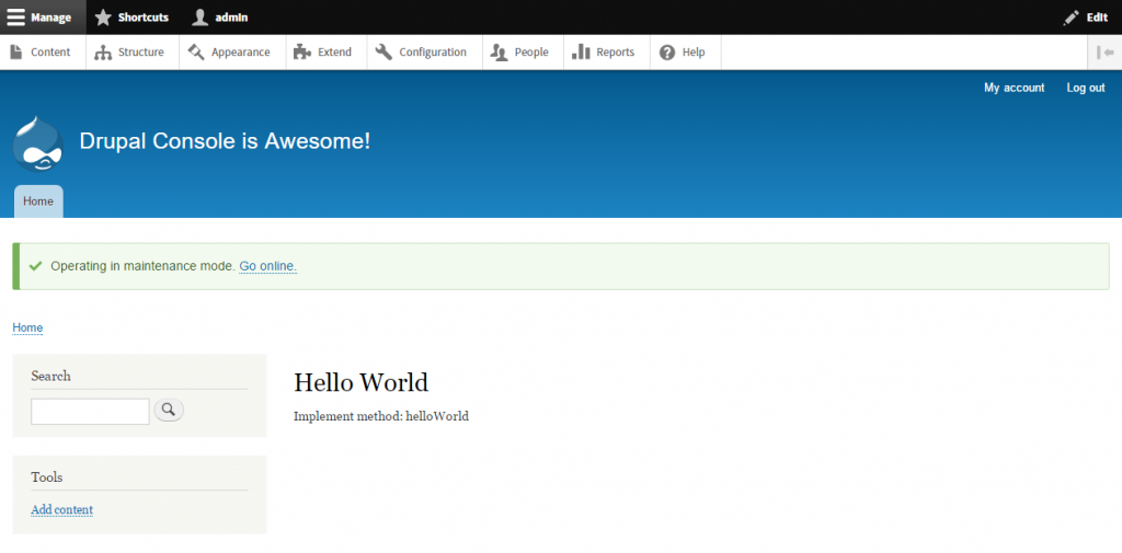 Drupal Hello World 1